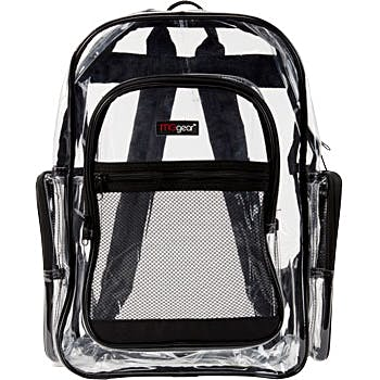 Clear and Mesh Backpacks