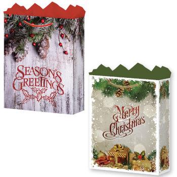 wholesale fat toad gift bag rustic christmas jumbo matte finish sku 2279153 dollardays