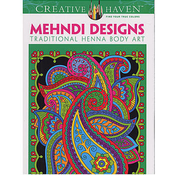 Wholesale Dover Creative Haven Adult Coloring Books Mehndi Designs