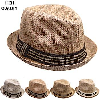 e44cf31c418 Wholesale Fedora Hat with Stripe Band (SKU 2284896) DollarDays