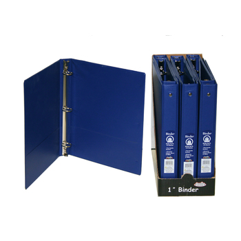 wholesale 1 inch 3 ring binder blue sku 2289525 dollardays