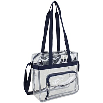 18441f09287b Wholesale Eastsport Clear NFL Approved Stadium Tote - Navy (SKU ...