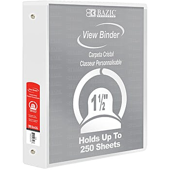 wholesale one and a half inch capacity 3 ring binders 1 1 2