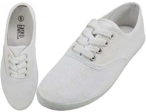 White Color Canvas Shoes (Size