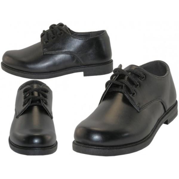 Wholesale Boys' Black Shoes with Laces