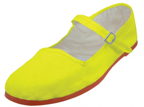 Yellow color Mary Janes Shoes