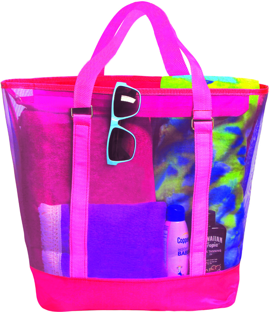 Sunlily Sunshine Mesh Tote Bag Pink and Purple
