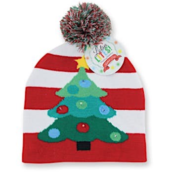 a33e836810a05 Wholesale Lotsa Lites! Flashing Holiday Knitted Hat (SKU 2317523) DollarDays