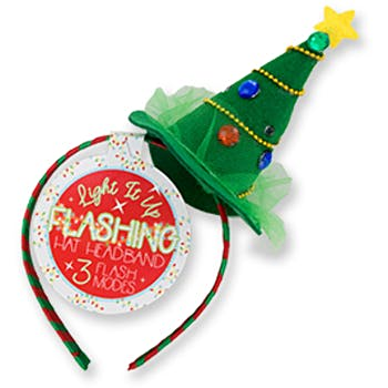 Christmas Headband Craft.Light It Up Flashing Christmas Tree Hat Headbands