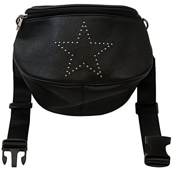 7d764bae492a Wholesale Oversize Fanny Pack in Black with Star (SKU 2327261) DollarDays