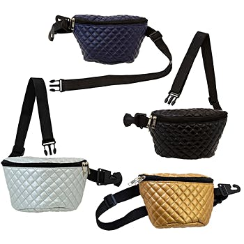 73755e93288a Wholesale Large Quilted Fanny Pack in 4 Assorted Colors (SKU 2327257 ...