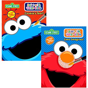 Sesame Street paint with water coloring book