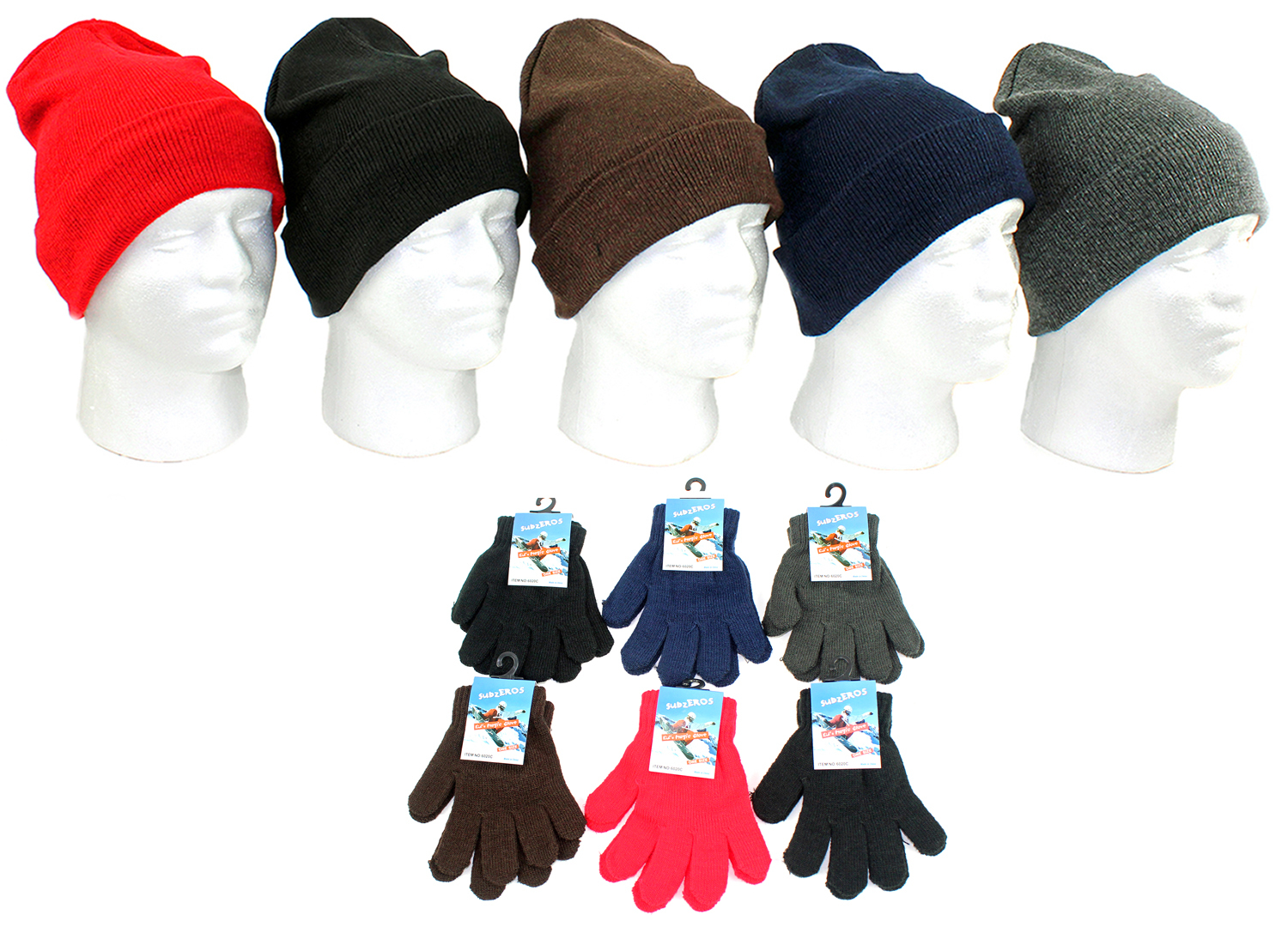 Great Styles and Colors New Wholesale Lot of 120 Brand New Winter Hats