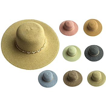 a140506e7eb Wholesale Women s Woven Sun Hat with Accent Band (SKU 1996933 ...