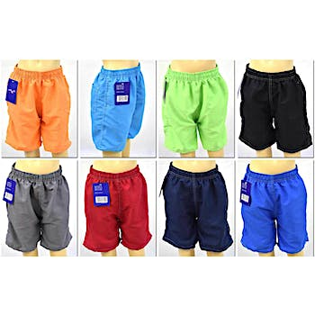 bb21e769cd Boy's Swim Trunks with Back Pockets - Solid Colors - Sizes ...