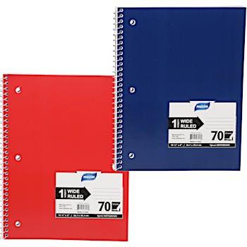 Wide Ruled Notebook- 70 Sheet 1 Subject
