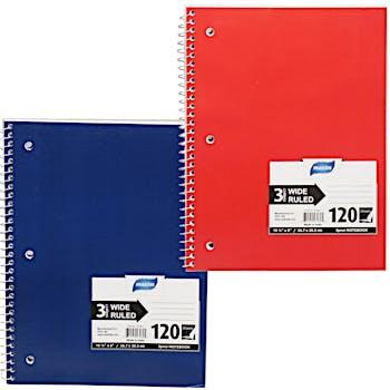 Wide Ruled Notebook- 120 Sheet 3 Subject