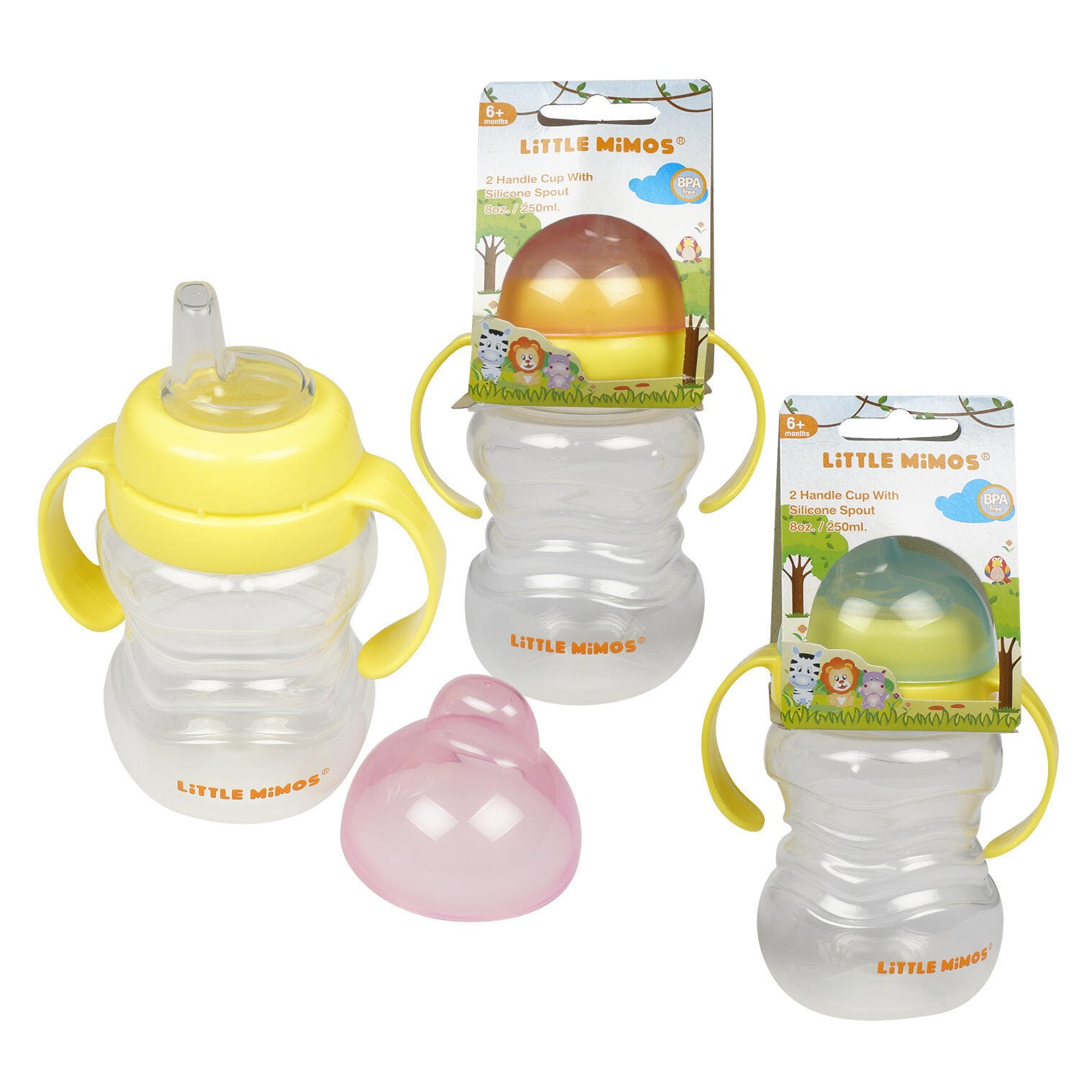 8 oz. Sippy Cups (set of 4)