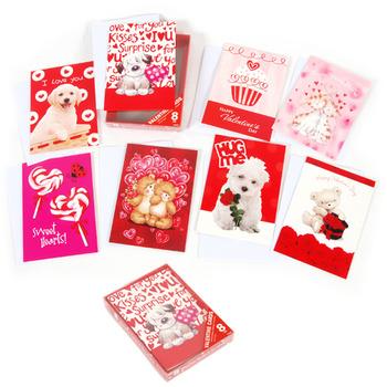 Wholesale 8 Pack Boxed Valentine Cards Sku 2323298 Dollardays