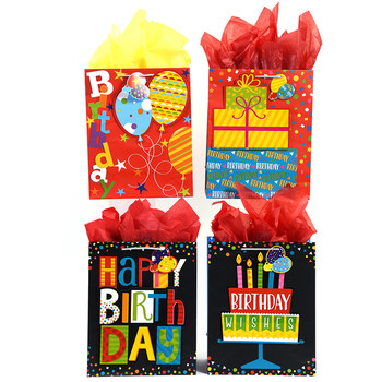 Wholesale Extra Large Matte Finish Balloon Stars Pop Layer Happy Birthday Gift Bag SKU 2315524 DollarDays