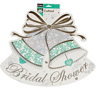 bridal shower 2 sided printed cutout