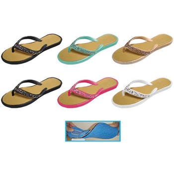 49afed487 Wholesale Women s Thong Sandals with Rock Glitter (SKU 2288579 ...