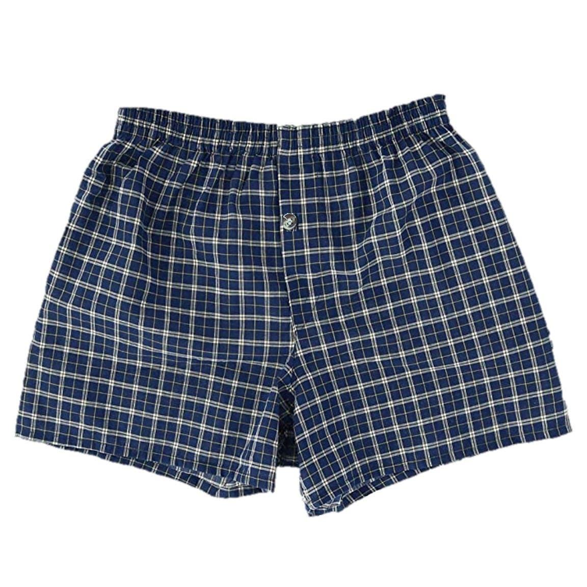 Best Mens Boxers Plaid Shorts Underwear Lot Cotton Briefs Pairs 3pcs Pack S-2XL