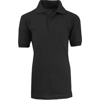 Wholesale Adult Black School Uniform Polo Shirt Size L Sku