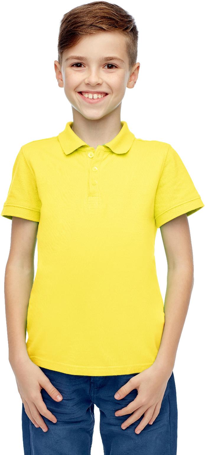Wholesale Boys Yellow Short Sleeve Polo Shirt Size 6 Sku 2267345