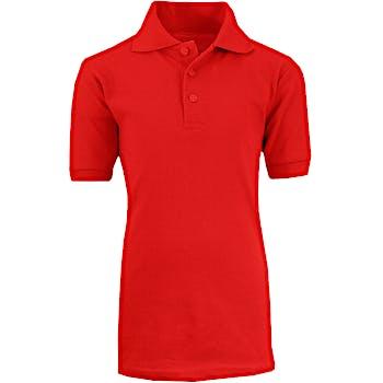 5407a886 Wholesale Adult Red School Uniform Polo Shirt - Size M (SKU 2290325 ...