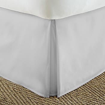 Cal King Bed Skirt.Soft Essentials Premium Pleated Bed Skirt Dust Ruffle California King Light Gray