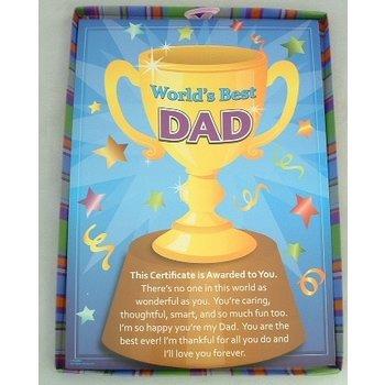 wholesale world s best dad certificate sku 1193525 dollardays