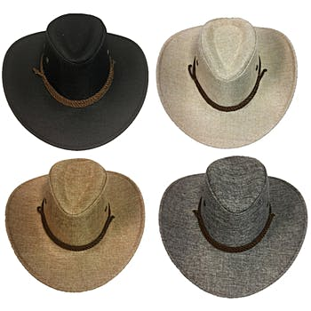 Tweed Cowboy Hat with Hat Band