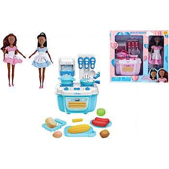 Wholesale Chef Trendy Fashion Doll With Mini Kitchen Playset Assorted Sku 2339817 Dollardays