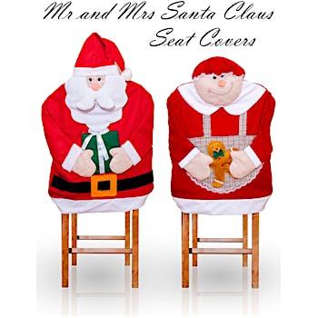 Magnificent Santa Hat Christmas Chair Covers Lamtechconsult Wood Chair Design Ideas Lamtechconsultcom