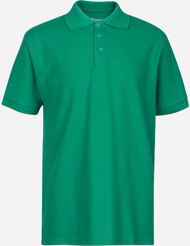 Wholesale Premium Kelly Green Youth Polo Shirt Size 56 Xs Sku