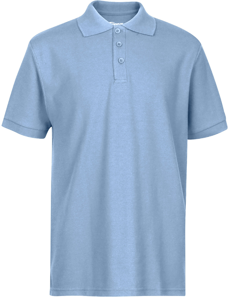 Wholesale Premium Lt Blue Youth Polo Shirt Size 1820 Xl Sku