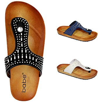 0ba96ae45b67 Wholesale Women s Thong Sandals with Beads (SKU 2327242) DollarDays