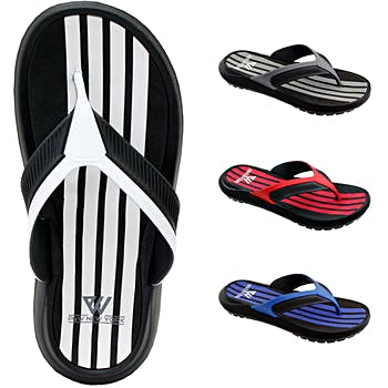 267d7d21b588 Wholesale Men s Vertical Striped Sandal - Assorted (SKU 2327134 ...