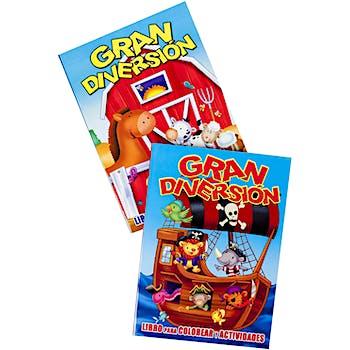 Gran Diversion Spanish Coloring Books - Assorted