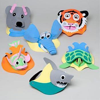 Wholesale 3D Foam Sun Visors with Animal Heads (SKU 273143) DollarDays ee3d8044370
