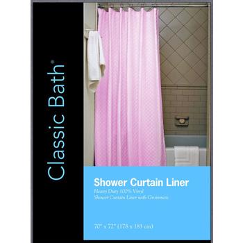 Wholesale Pink Shower Curtain Liner SKU 2289161 DollarDays