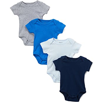 722d087e2 Wholesale Baby Boys Short Sleeve Solid Colors 4 Pk Onesies (SKU ...
