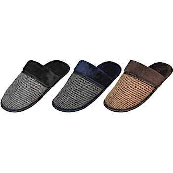 66193f540d9 Men s Textured Slippers W  Faux Fur Trim