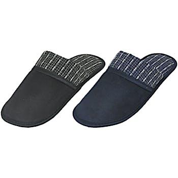 d8c863dd834 Men s Windowpane Trimmed Slippers