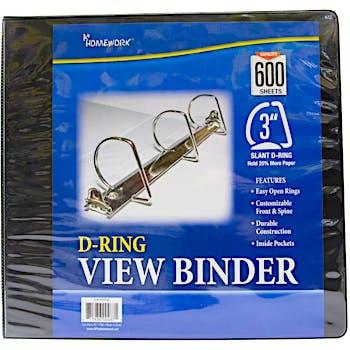 wholesale three inch capacity 3 ring binders 3 binders bulk