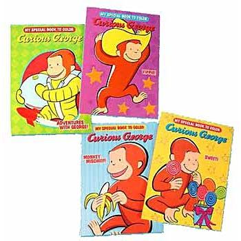 Wholesale Curious George Coloring Book Assorted Sku 377532