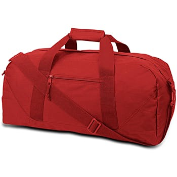 Large Square Duffel Red