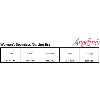 a819d7d188ac6 Wholesale Angelina Seamless Nursing Bras with Ruched Cups - X-Large (SKU  2329295) DollarDays